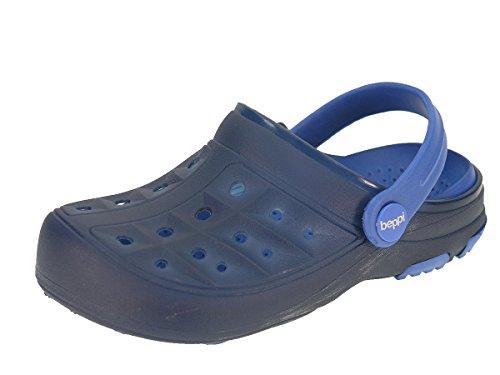 Beppi Kinder Clogs Badeschuhe Sommerschuhe für Jungen und Mädchen 2156590, Navyblau, 28