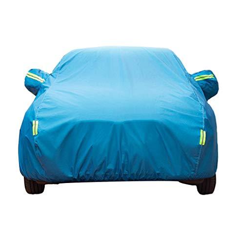 WAA Compatible con Mazda 3 Car Cover SUV Four Seasons Universal Resistente al Viento/A Prueba de Polvo/Impermeable/Protector Solar/con Cremallera Ropa para Exteriores