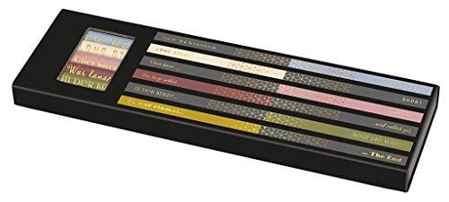 moses libri_x Bleistiftset Long Story Short - 6 Bleistifte mit Radierern, Härtegrad HB und 2B
