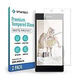 smartect Mattes Schutzglas kompatibel mit Sony Xperia Z5 [2x MATT] - Tempered Glass mit 9H Festigkeit - Blasenfreie Schutzfolie - Anti-Kratzer Bildschirmschutzfolie