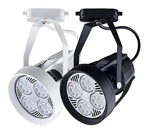 FACAZ Iluminación de riel Proyector de Techo Ajustable de 30 W Uso Comercial doméstico Alto Brillo para Tienda Tienda Centro Comercial Exposición, 2 Piezas