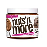 Nuts 'N More Dark Chocolate Almond Butter Spread, All Natural Keto Snack, Low Carb, Low Sugar, Gluten Free, Non-GMO, High Protein Flavored Nut Butter (16 oz Jar)