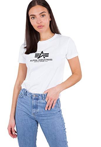 Alpha New Basic T WMN T-Shirt, Blanc, Small Femme
