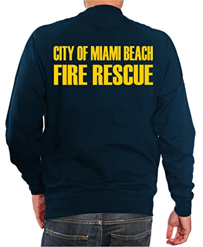 Sweat-shirt Bleu marine, Miami Beach Fire Rescue 3XL Bleu marine - bleu marine