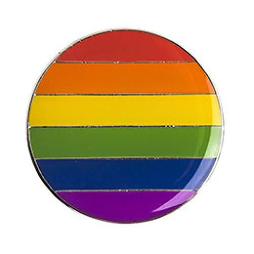 COLORFULTEA Genderqueer Pride Rainbow Flag Rozet Metal Chapas Metalicas Pins Icon Mochila Broche para Regalo