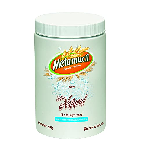 Metamucil Fibra Natural Sabor Natural Suplemento tarro de 210 g - 30 dosis