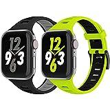 Vecann Cinturino compatibile per cinturini Apple Watch 38mm 40mm 42mm 44mm, cinturini sportivi in silicone Cinturino di ricambio morbido e traspirante impermeabile per iWatch Series 6/5/4/3/2/1/SE