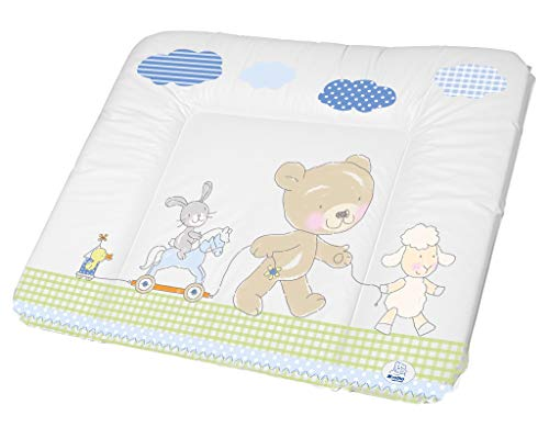 Rotho Babydesign Matelas à Langer, Dès la Naissance, Best Friends, Bella Bambina, White/Blue (Blanc/Bleu), 72 x 85 cm, 200620001AZ