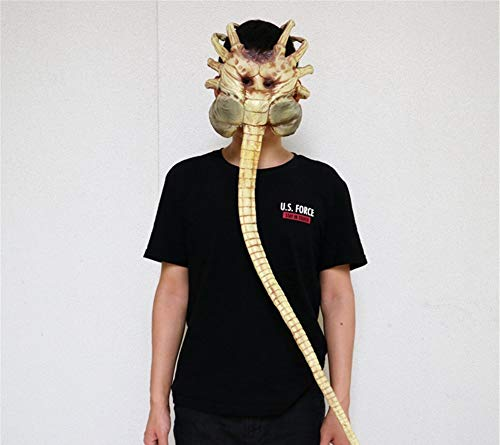 Fun Holi-day Supplies Halloween Maske Alien Facehugger Modell Halbes Gesicht Kopfbedeckung Terror Grusel Spukhaus Cosplay Unfug Maskerade