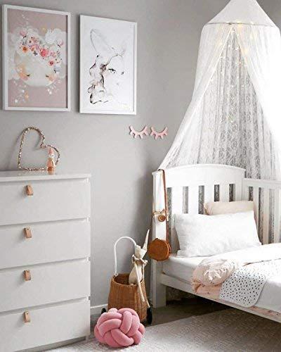 Kunmuzi - Toldo Redondo para Cama Infantil, decoración de guardería, mosquitera de algodón, Tienda de campaña para niños, decoración de habitación para bebé
