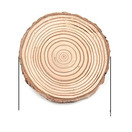 SEOLQX 4 – 10 cm Natural redondo de madera antideslizante taza posavasos taza de té taza de café bebidas titular para decoración de vajilla DIY almohadilla duradera de 5 cm