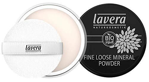 lavera Puder Fine Loose Mineral Powder ∙ Transparentes Gesichtspuder ∙ Natural & innovative Make up ✔ vegan ✔ Bio Pflanzenwirkstoffe ✔ Naturkosmetik ✔ Teint...