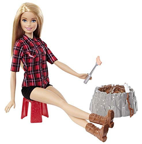 Barbie FDB44 - Lagerfeuer Set Puppe blond