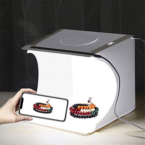RUIXFRU Carpa De Tiro para Estudio Fotográfico Portátil Mini Caja De Luz para Fotografía Mesa Plegable Mini Iluminación LED Fondo De 6 Colores