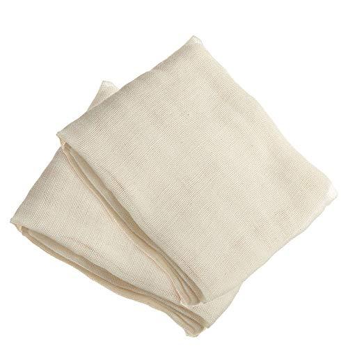 FOGAWA 2 PCS Käsetuch Passiertuch Wiederverwendbar Filter Cloth Bio Nussmilchbeutel Baumwolle 95 x 95 cm Seihtuch zur Käseherstellung für Lebensmittel Käse Tofu Milch Obst
