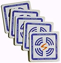 SparkMarks High-Capacity NFC Adhesive Tags (5x Durable, Water-proof NFC Tags, with Topaz 512)