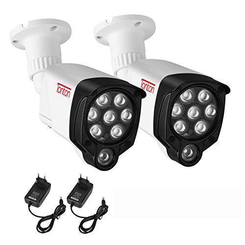 Tonton Infrarood-nachtzicht, IR-verlichting, verlichting, 30 m, voor bewakingscamera, waterdicht stopcontact, videobewaking, extra licht met 3 m DC voeding voor binnen en buiten, 2 stuks