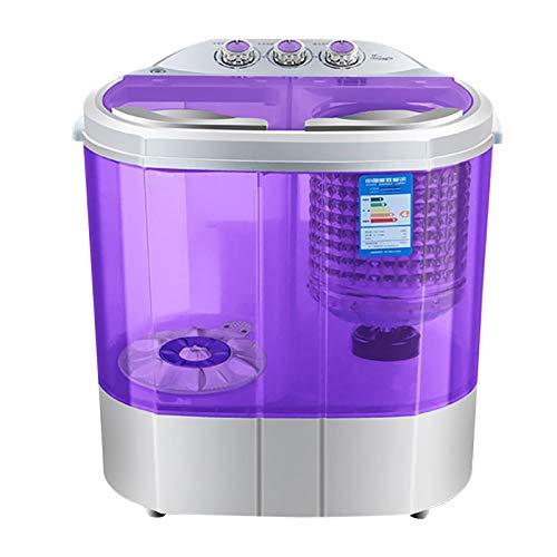 220-240V 360W Mini Mobile Waschmaschine mit Trockenschleuder, IPX4 Campingwaschmaschine Reisewaschmaschine Toplader Tragbar 3,6kg Max.