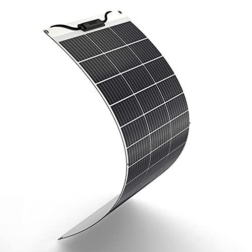 HQST Flexible Solar Panel, 100 Watt 12 Volt Monocrystalline Flexible Waterproof for RV, Boats, Cabin, Roofs, Uneven Surfaces