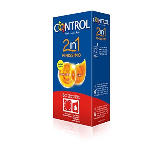 Control Preservativo Finissimo - Paquete de 6 preservativos + lubricante