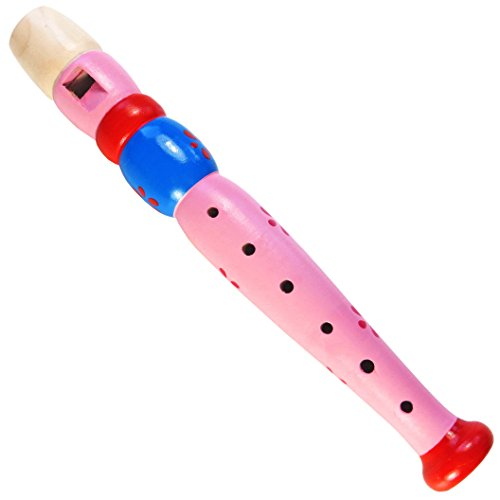 Keepdrum KFL1PK Flöte für Kinder Lila Pink aus Holz