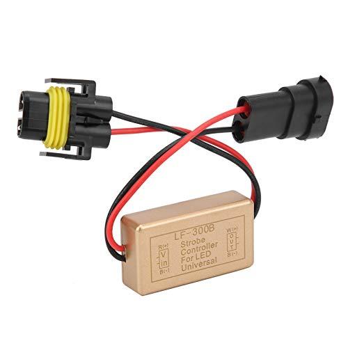Caja de controlador de luz estroboscópica de linterna LED Caja de controlador de linterna de plástico Luz de niebla continua