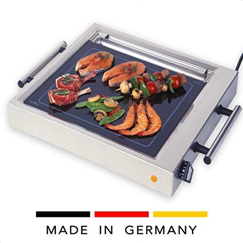 ELAG LeMax Grill II mit Fettwanne (Teppanyaki Grill & Elektrogrill - gleichmäßige Hitzeverteilung - max. 380°C Spitzentemperatur - stufenlose Temperaturregulierung - auch Griddleplatte)