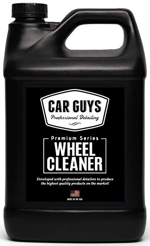 CAR GUYS Wheel Cleaner Gallon - Rim and Tire Cleaner for Brake Dust and Grime - Safe for Alloy, Chrome, Aluminum, and More - 1 Gallon (Sprayer Not Included)