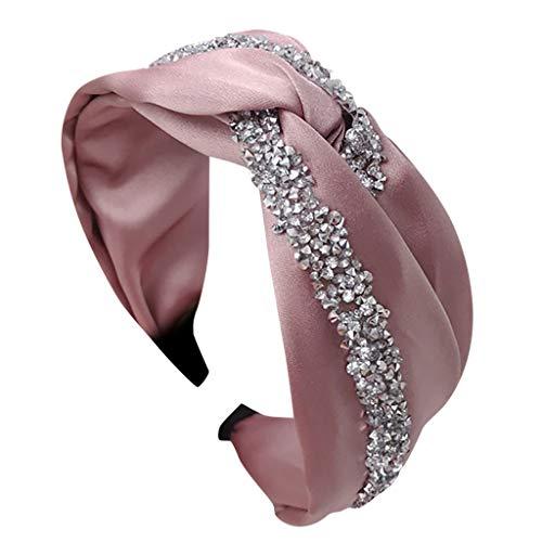 Winkey - Diadema para mujer con lazo Rosa rosa Taille unique