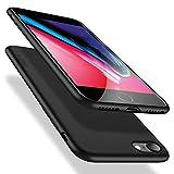 X-level iPhone SE 2020 Hülle, iPhone 8 Hülle, iPhone 7 Hülle, Soft Flex TPU Hülle Superdünn Handyhülle Silikon Bumper Cover Schutz Tasche Schale Schutzhülle für iPhone 7/8/ SE (2020) - Schwarz