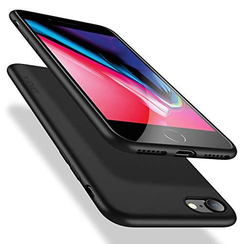 X-level iPhone SE 2020 Hülle, iPhone 8 Hülle, iPhone 7 Hülle, Soft Flex TPU Case Ultradünn Handyhülle Silikon Bumper Cover Schutz Tasche Schale Schutzhülle für iPhone 7/8/ SE (2020) - Schwarz