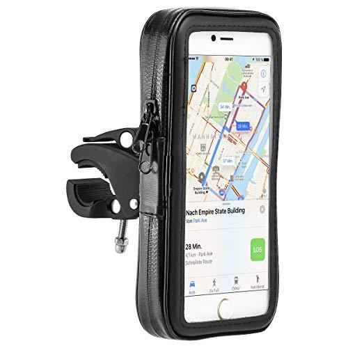 MidGard wasserdichte Fahrrad- und Motorrad-Halterung universal, Wasserabweisende Tasche für Handy Smartphone 5,5 Zoll - 6.3 Zoll wie z.B. iPhone Plus/Samsung/Huawei/Sony usw.