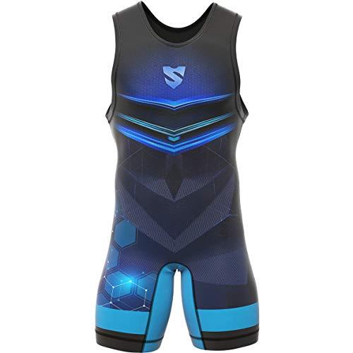 SMMASH Orion Ringeranzug für Herren, Wrestling Singlet, Material Atmungsaktiver und Haltbar, Bodysuit mit Gummizug an der Beinöffnung, Ringer Trikot, Hergestellt in der EU (L)