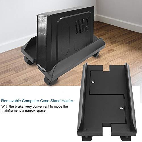 Denkerm Computergehäuse Schreibtischständer Computergehäusehalterung, Stehpult Computerhalter Computerhalterständer, Computerständerhalter, Mainframe-Rack Computerständergehäuse(Black)