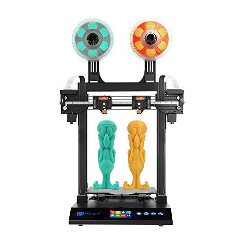 Artist-D Pro 3D Drucker, unabhängiger Doppelextruder mit schnell austauschbarer Meanwell-Stromversorgung Düse, Direktzufuhr PLA, TPU, PETG Filament Großdruckvolumen 300 * 300 * 340 mm