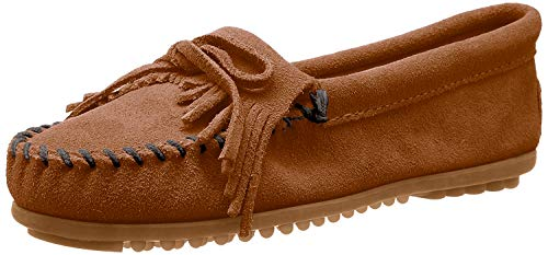 Minnetonka Women's Kilty Moccasin,Brown,8 M US