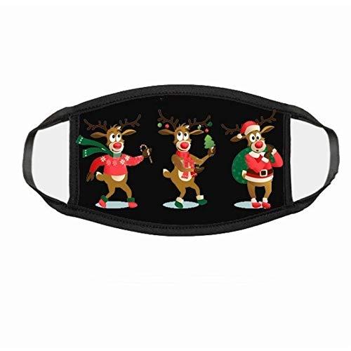 N / A Adult Christmas Mask, atmungsaktive Weihnachtsmaske mit einstellbarem Weihnachtsmuster