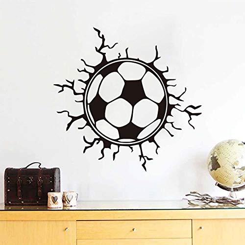 Muurstickers voor kinderkamer, voetbal, kapotte muurkunst, sport, afneembare vinylstickers voor jongens, kamers | muurstickers 60 cm x 58 cm