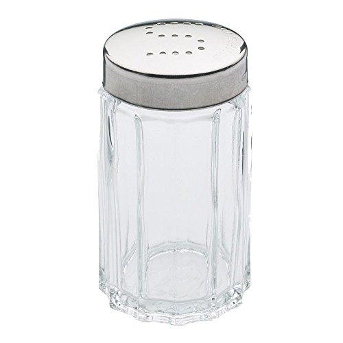 Westmark Salzstreuer, Fassungsvermögen 50 ml, Rostfreier Edelstahl/Glas, Traditionell, Silber/Transparent, 63012260