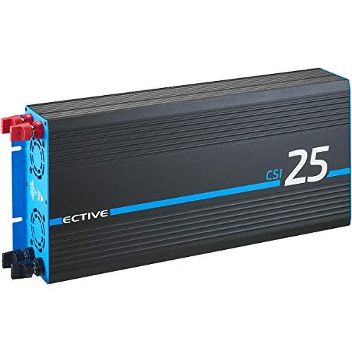 ECTIVE 2500W 12V zu 230V Reiner Sinus-Wechselrichter CSI 25 mit Batterie-Ladegerät, NVS und BVS
