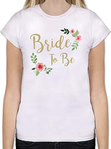 JGA Junggesellinnenabschied - Bride to Be - L - Weiß - Weisse t Shirt Damen - L191 - Tailliertes Tshirt für Damen und Frauen T-Shirt