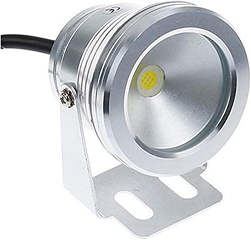 MWKLW Paquete de 3 Luces LED subacuáticas 10w Foco subacuático IP68 Luz de Paisaje de rocalla Impermeable 12V Fuente Colorida Luz de Piscina