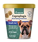 NaturVet – Coprophagia Stool Eating Deterrent Plus Breath Aid – Deters Dogs from Consuming Stool – Enhanced with Breath Freshener, Enzymes & Probiotics – 70 Soft Chews