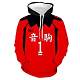 Xiao Maomi Haikyuu Kozume Kenma Cosplay Hoodie Nekoma High School Volleyball Uniform Costume Adult Pullover Sweatshirts Sweater (XX-Large, 1(Kuroo Tetsurou))