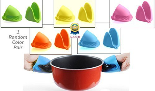 Romote v2pc (1 couleur aléatoire paire) Mini-four résistant à la chaleur Mitts Pincée Mitt Gants manique pour la cuisine de cuisson de cuisson - qualité alimentaire silicone