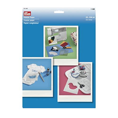 Prym Gefrierpapier DIN A4 25 Blatt weiß One Size
