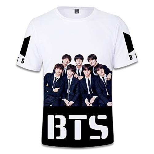 ZIGJOY Unisex Kpop Bulletproof Boy Scouts T-Shirt Bangtan Boys Kurzarm Coole Tops T-Shirt 3D gedruckt J-Hope RM Jimin V Jungkook SUGA493 2XL
