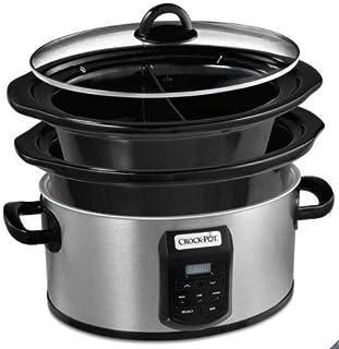 Crock-Pot CSC054 Olla de cocción Lenta Digital, tamaño XL, 5.6 L + 2.4 L, Negro