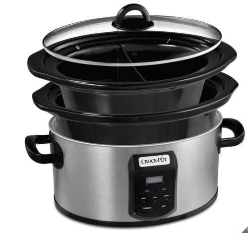 Crock-Pot Crockpot Slow Cooker Digitale CSC054Family Taglia XL 5.6L + 2.4l capacità 5–6Persone