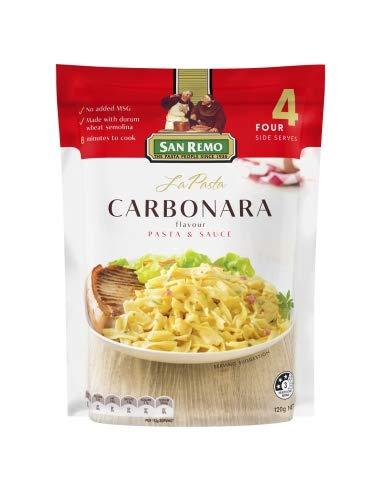 La Pasta a la Carbonara 4 Sirve 120gm